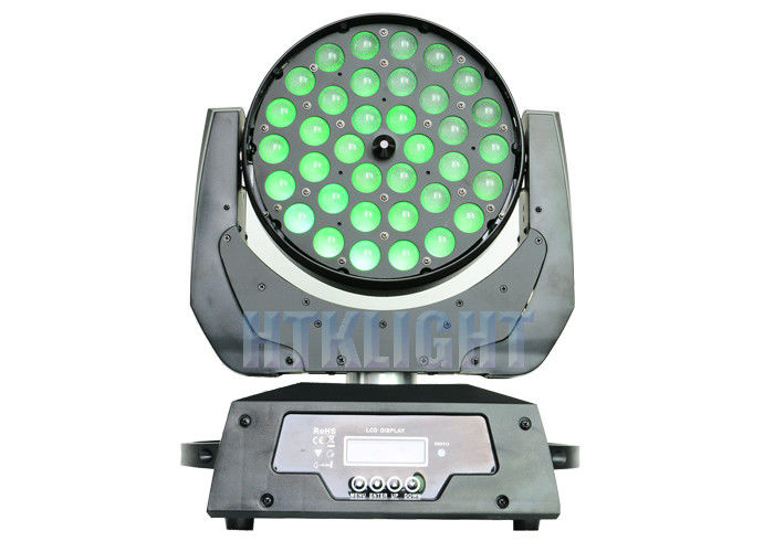 450W Led Moving Wash Light , 36x10w Rgbw 4in1 Led Zoom Moving Head Light