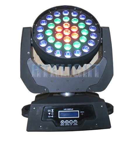 37x9W Zoom Led Moving Head Light , Moving Head Stage Lights For Large Concert