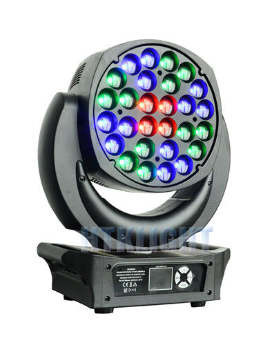 Electronic Focusing LED Wash Moving Head Light 28x25W With 16 Bit Resolution