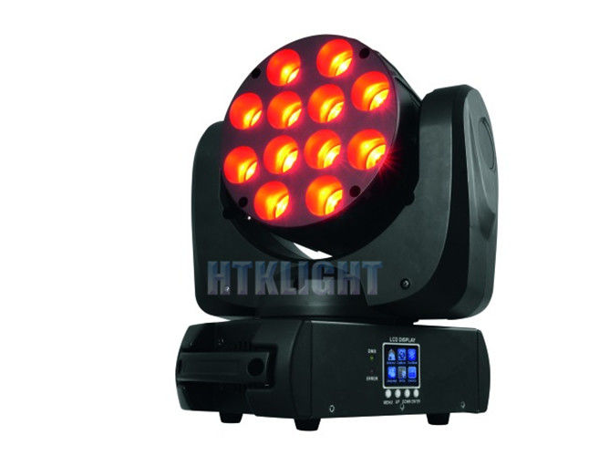 Sound Active Effect Beam Moving Head Light 12 Pcs 10W Changeable Emitting Color