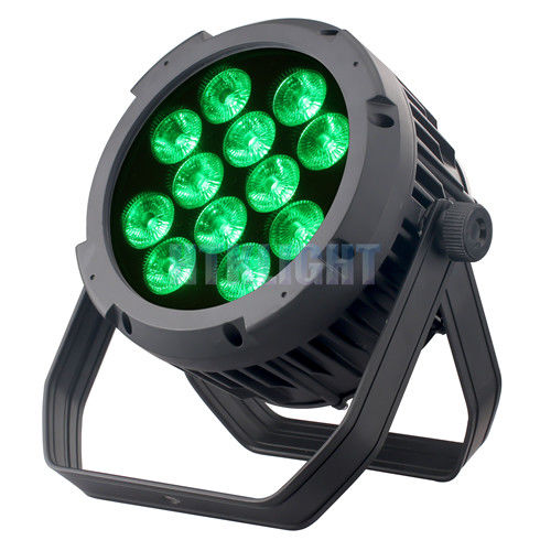 RGB LED 12x10W Led Par Stage Lights With IP65 Waterproof Housing For Outside