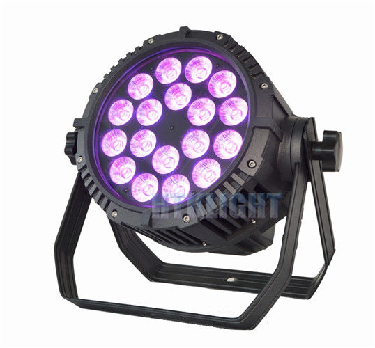 3in1 RGB 18x9W Outdoor Led Par Lights , Led Theatrical Lighting Pure Bright Color Effect