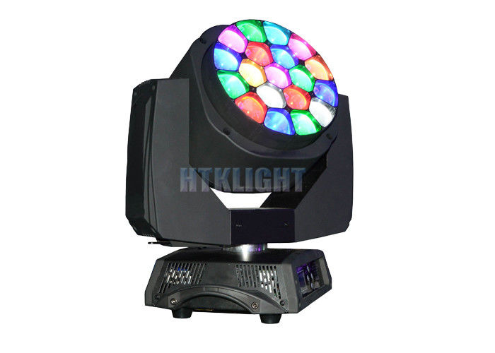 19 Pcs 15W Osram LED Stage Moving Head Light With 4° - 60° Electronic Zoom Range