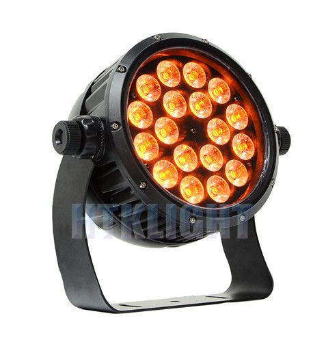 RGBWA + UV 6 In1 18 X 12 W LED Par Can Stage Lights For Theater , TV Studios