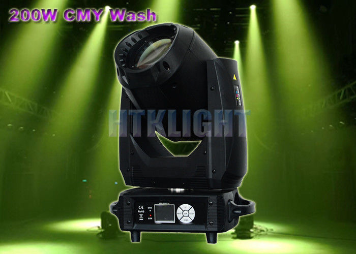 Alpha Wash 50 - 60Hz 200W CMY LED Moving Head For Theater , TV Studios