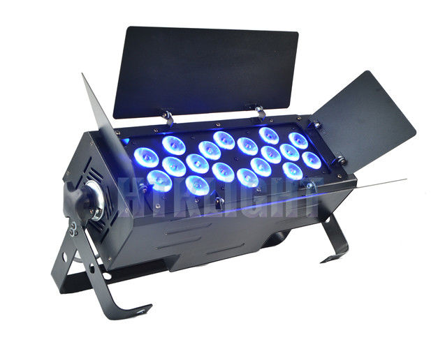 18 X 18 Watt RGBWA + UV 6 In1 LED Party Lights / Professional Stage Lighting