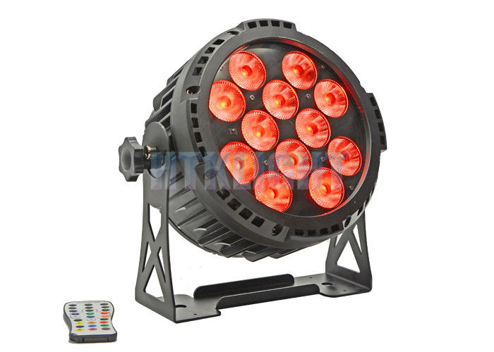 Aluminum Housing Battery Powered DMX Lights / LED Par Cans 12 X 18 W 50000hrs Long Lifespan