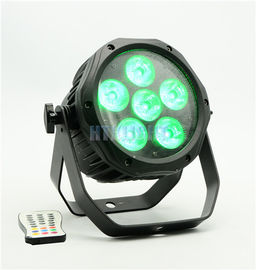 IP65 LED Stage Wash Lights , Wireless 6 * 15 Watt RGBWA 5 in1 Astera AX10 Spot Stage Light