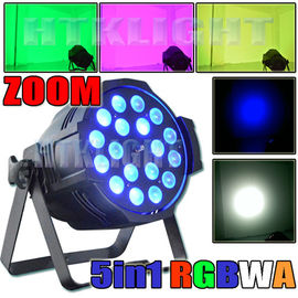 China Ip20 Theatre Spot Lights , Zoom LED Stage Spotlights 18x15 Watt RGBWA Changeable factory