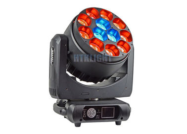 China Black Aluminum Housing Stage Effect Light / Moving Head LED Zoom factory