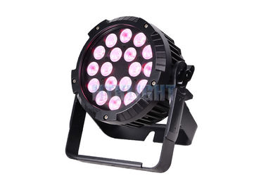 China DMX512 Waterproof LED Par Light / 18X10w Rgbw 4 In 1 LED Par Lamp factory