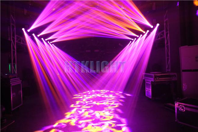 100w Led Moving Head Spot Light Electrical Focusing With 8 Facet Prism