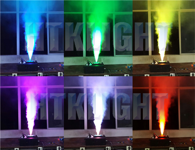 High Velocity Vertical LED Fog Machine , Dmx Smoke Machine For Weddings / Clubs