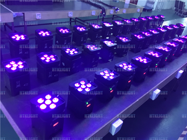 IP20 Battery Powered Wireless Dmx Led Lights 5in1 For Party / Wedding