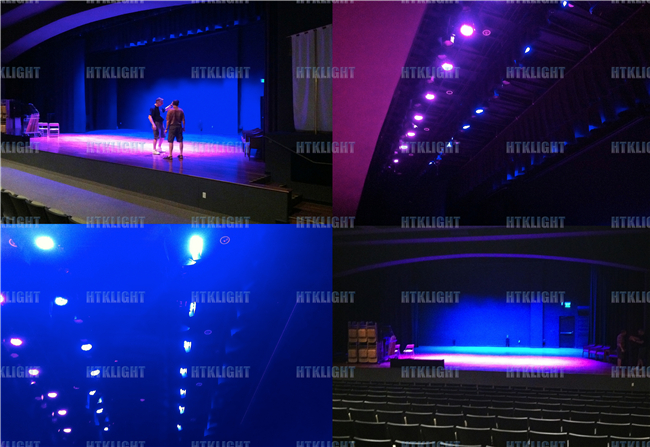 Smooth Dimming LED Stage Wash Lights With Barndoor For Theatre Light Weight